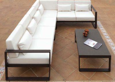 Modernūs lauko baldai kampinė sofa Marbella 7