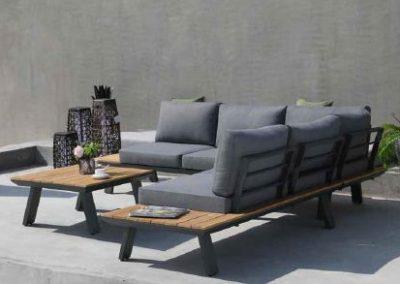 Modernūs lauko baldai kampinė sofa staliukas Lagos 3