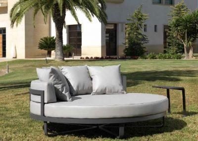 Modernūs lauko baldai lauko lova Lagos 6