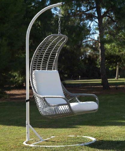 Modernūs lauko baldai pakabinamas krėslas Siena 3