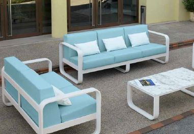 Modernūs lauko baldai sofa staliukas Ronda 2