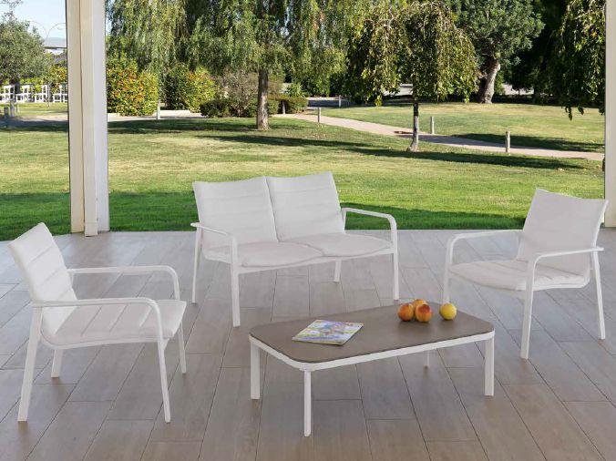 Modernūs lauko baldai suoliukas krėsliukas Grau
