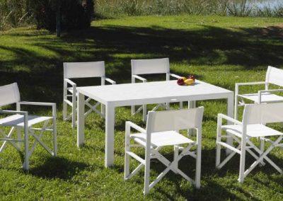 Modernūs lauko baldai valgomojo stalas kėdės Gandia