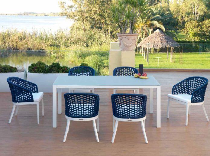 Modernūs lauko baldai valgomojo stalas kėdės San Marino 6