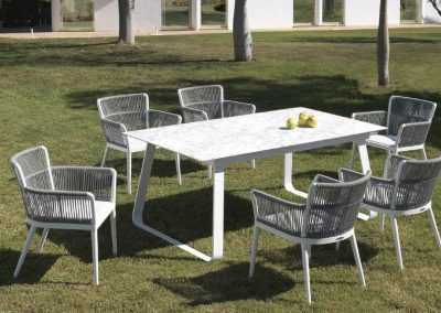 Modernūs lauko baldai valgomojo stalas kėdės Siena 4
