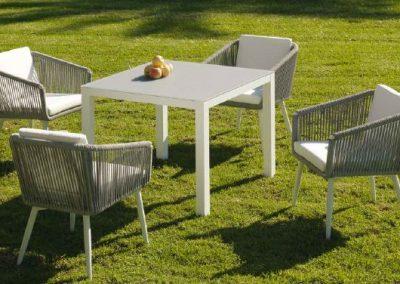 Modernūs lauko baldai valgomojo stalas kėdės Siena 5