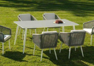 Modernūs lauko baldai valgomojo stalas kėdės Siena 6