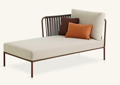 Modernus lauko chaise longue Nido