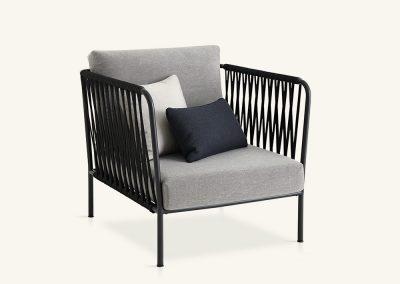 Modernus lauko fotelis Nido