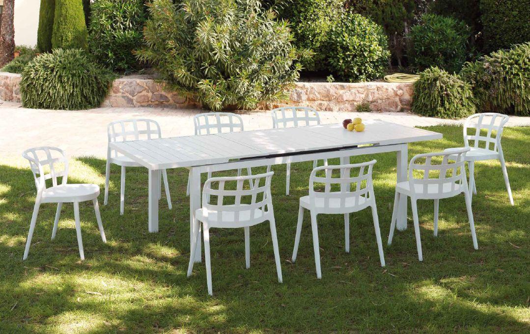 Modernūs lauko baldai valgomojo stalas kėdės Gandia 1