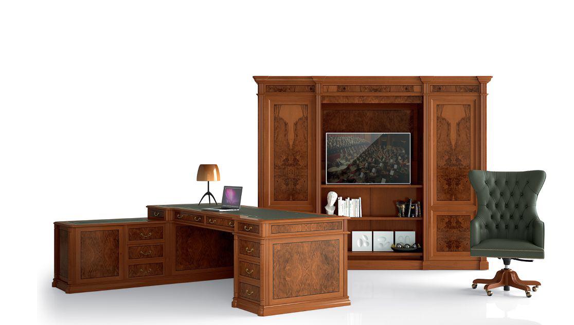 Klasikiniai darbo kambario baldai Art&Moble 2