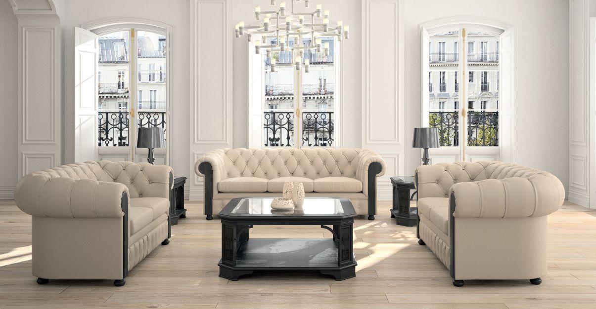 Klasikiniai darbo kambario baldai sofa Chester 1