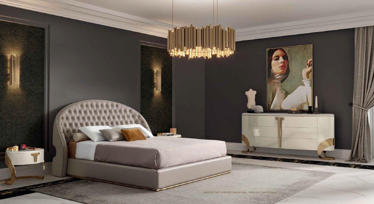 Modernios klasikos miegamojo baldai Harmony