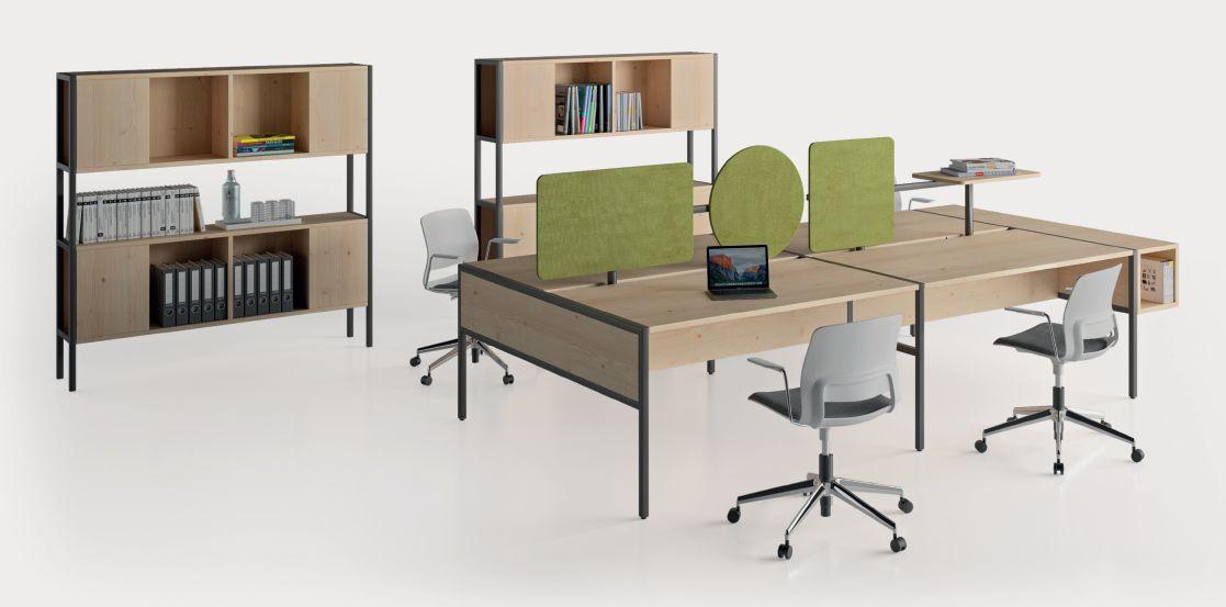 Modernūs darbo kambario baldai Piem 8