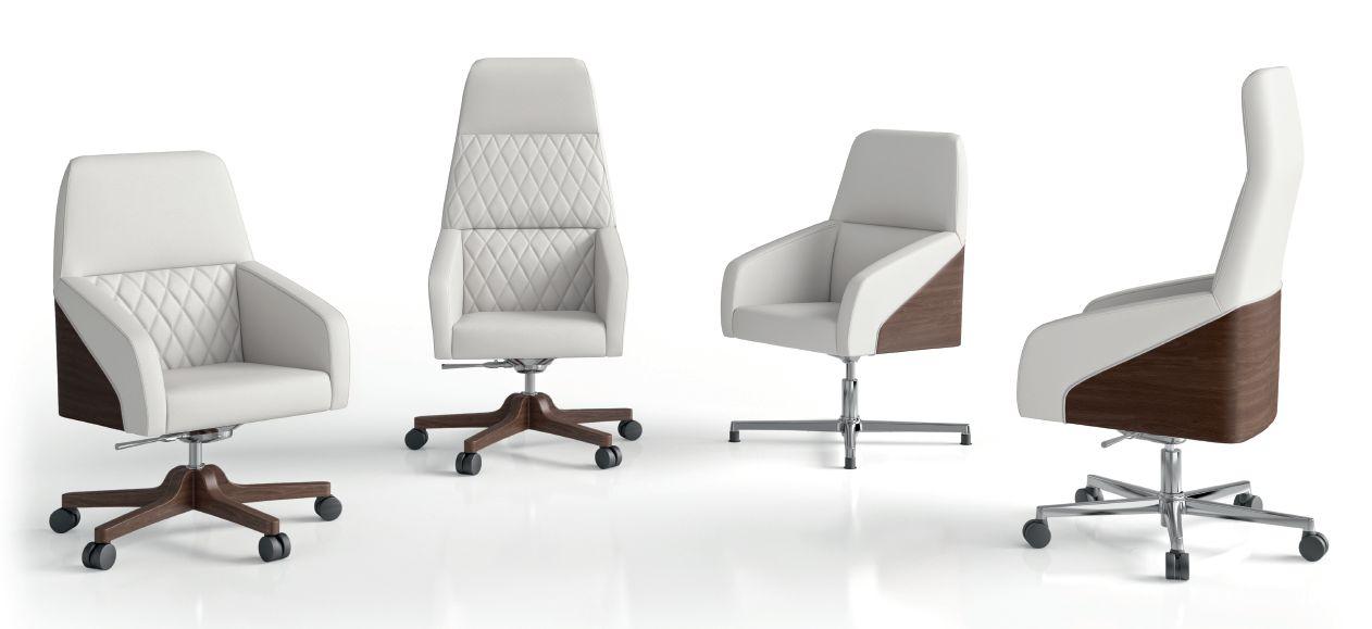 Modernūs darbo kambario baldai kėdės Band
