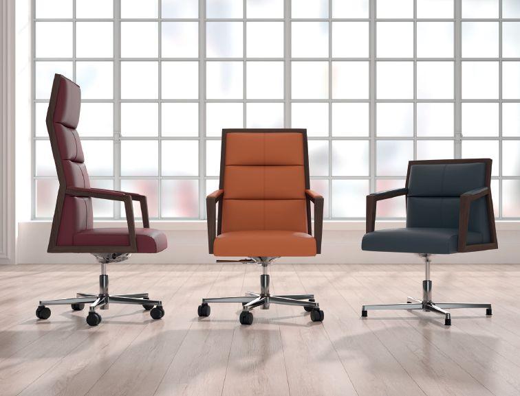 Modernūs darbo kambario baldai kėdės Square 1