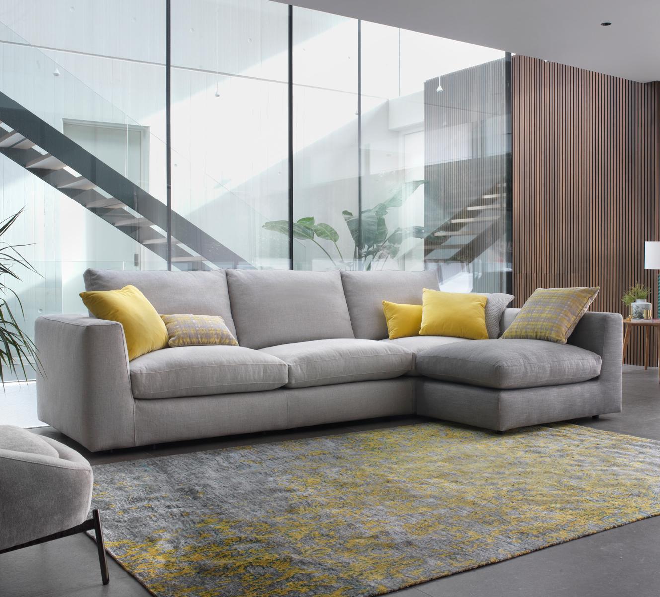 Modernūs minkšti svetainės baldai Alameda