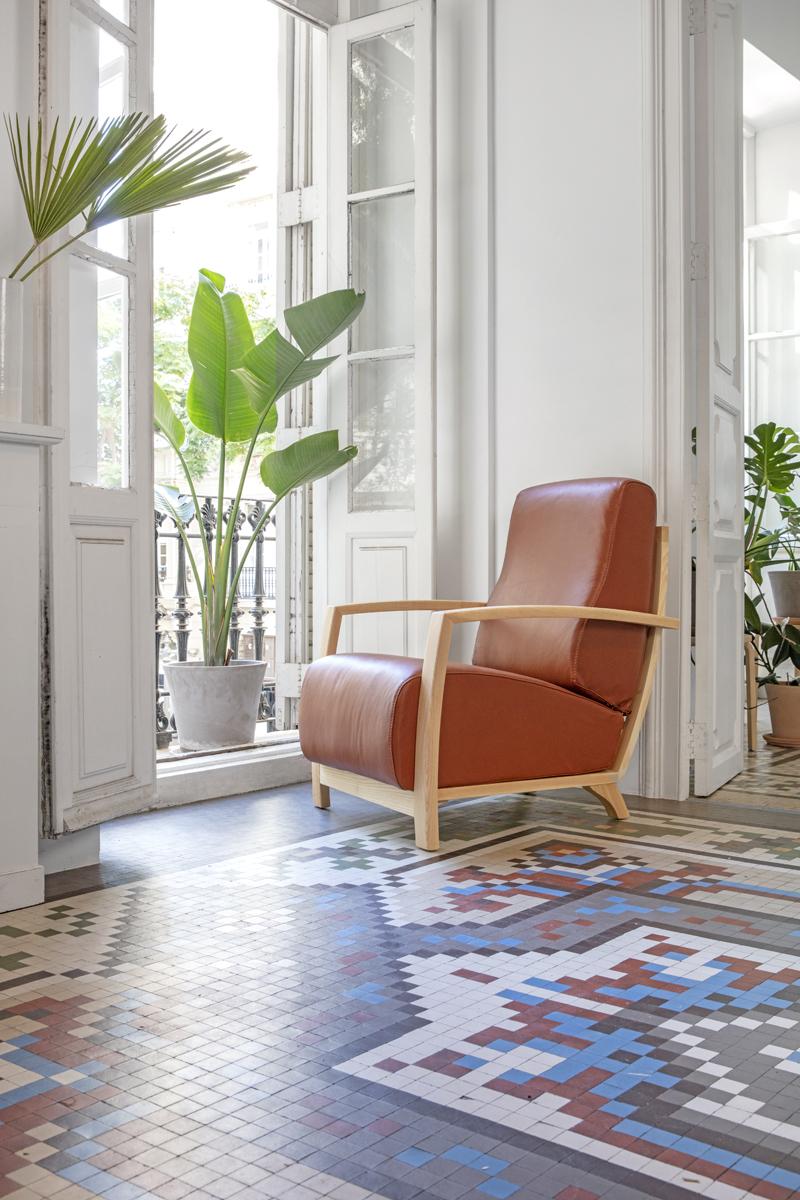 Modernūs minkšti svetainės baldai krėsliukas Glamour 5