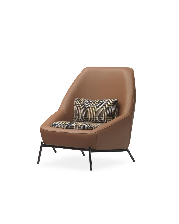 Modernūs minkšti svetainės baldai krėsliukas Gull