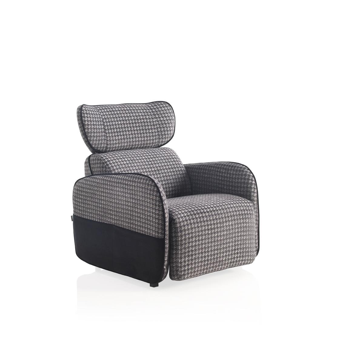 Modernūs minkšti svetainės baldai krėsliukas Koishi 1