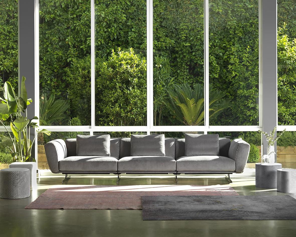 Modernūs minkšti svetainės baldai sofa Kara