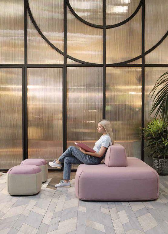 Modernūs minkšti svetainės baldai pufai Koh Tao 3