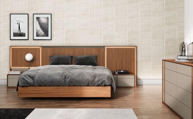 Modernūs miegamojo baldai Light 1