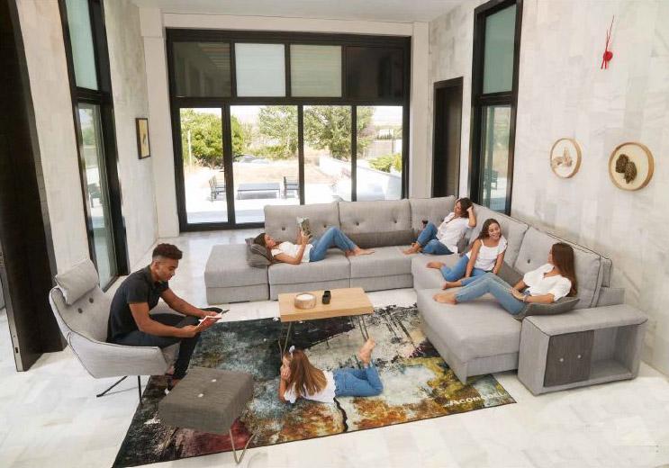 Modernūs minkšti svetainės baldai sofa Enzo 1